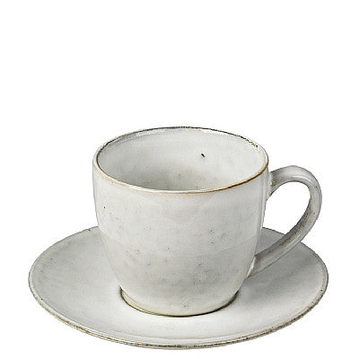 Nordic Sand Teacup and Saucer by Broste Copenhagen