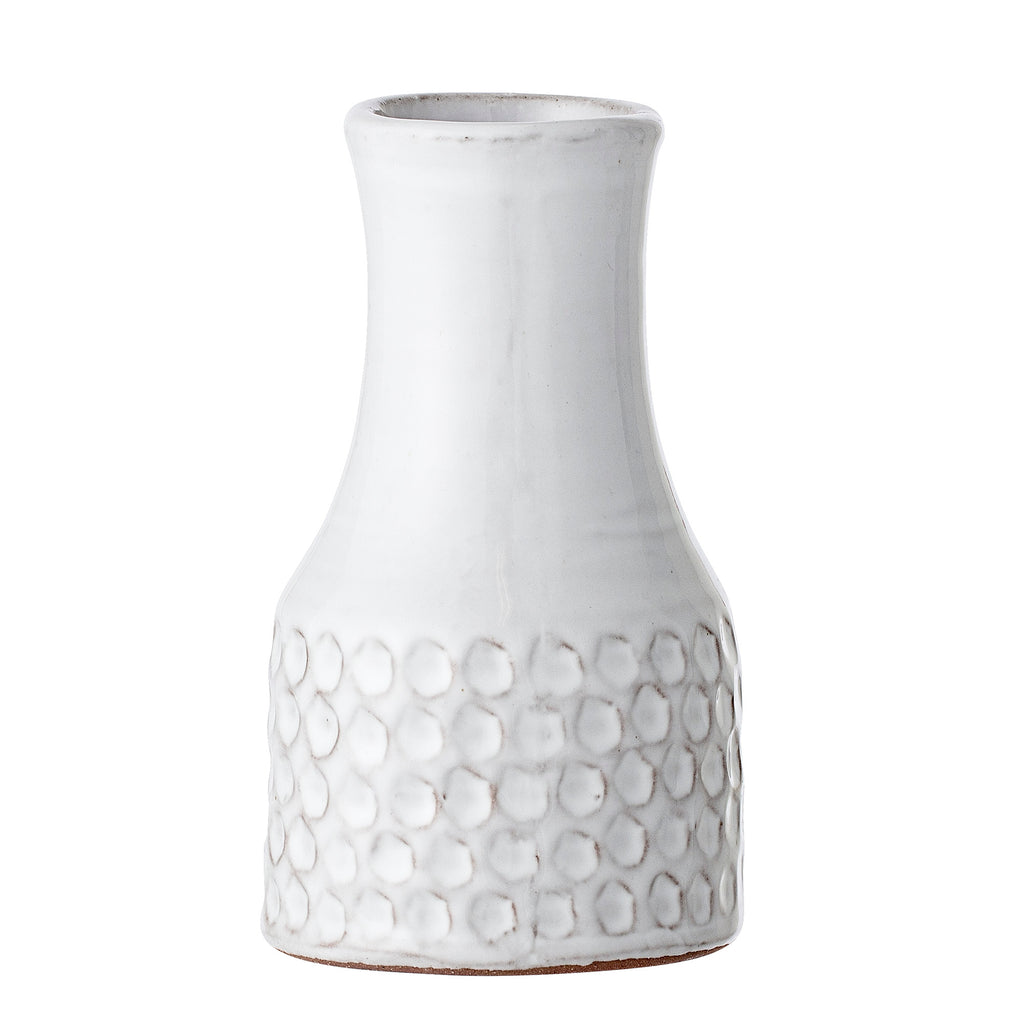White Terracotta Vase by Bloomingville
