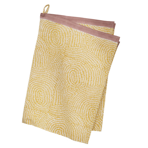 Zen Mustard Kitchen Towel by Bungalow Denmark