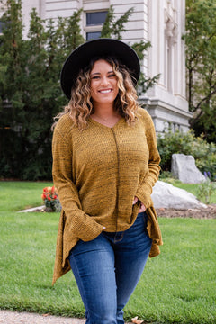 Life Of The Party Waffle Knit Top