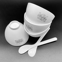 Silicone Mixing Bowls - 4 BOWLS & 2 SPOONS