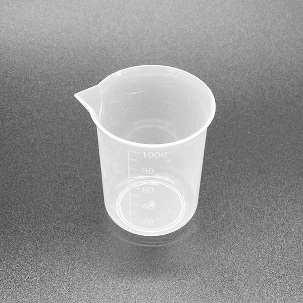 100ml Plastic Beakers - SPOUT - SET OF 5