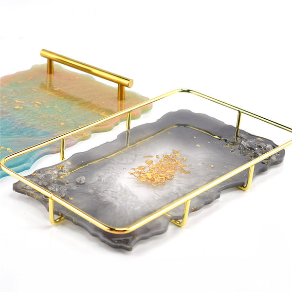 Rectangle Silicone Geode Tray Mold - LARGE