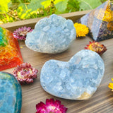 Celestite Egg Cluster - Mindfulness & Intuition