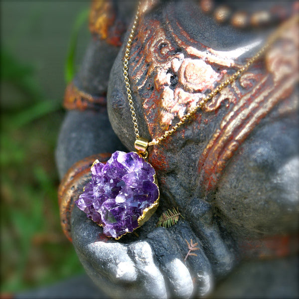 ** ONLY 1 LEFT ** Electric Soul Amethyst Necklace