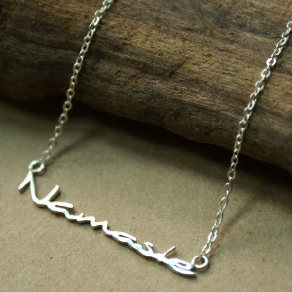 Namaste Sterling Silver  Necklace