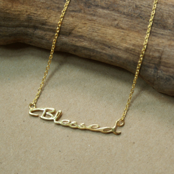 Beyond Blessed Gold Necklace