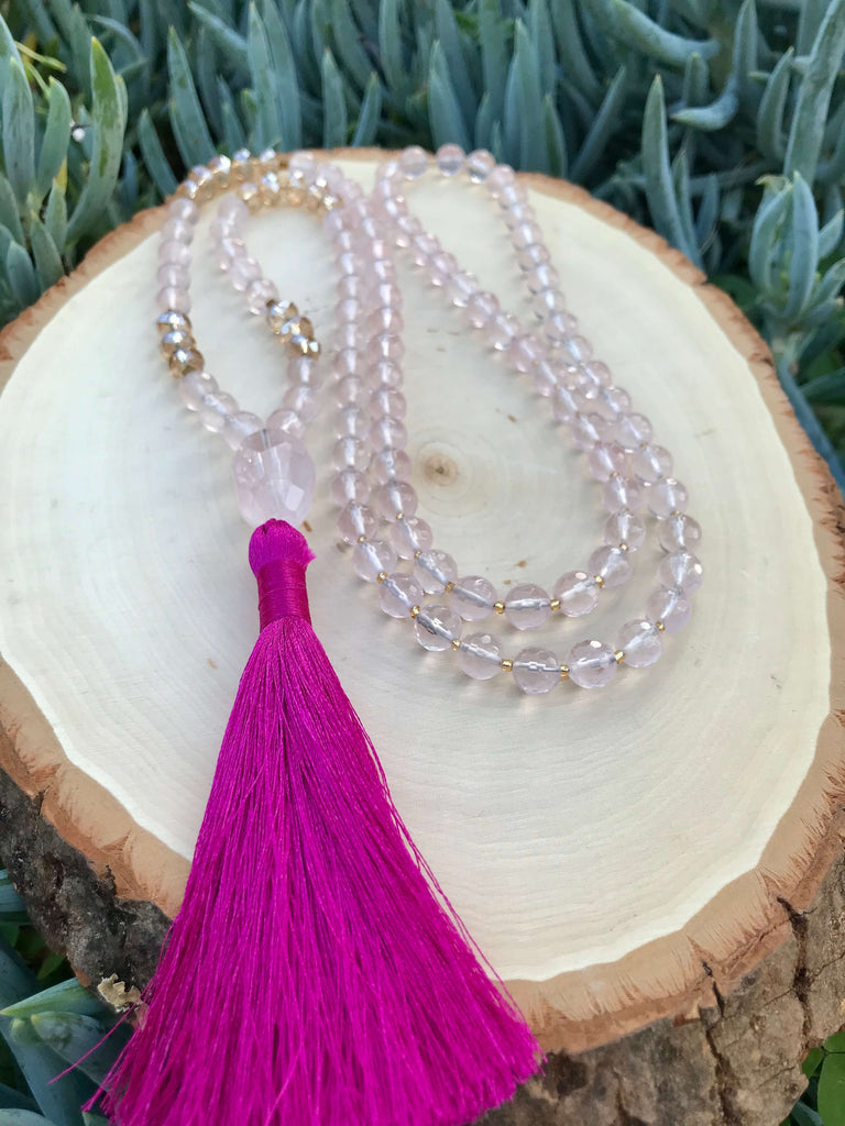Trust, Love & Harmony Rose Quartz 108 Mala