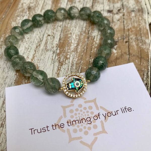 Wealth Activation Hamsa Bracelet
