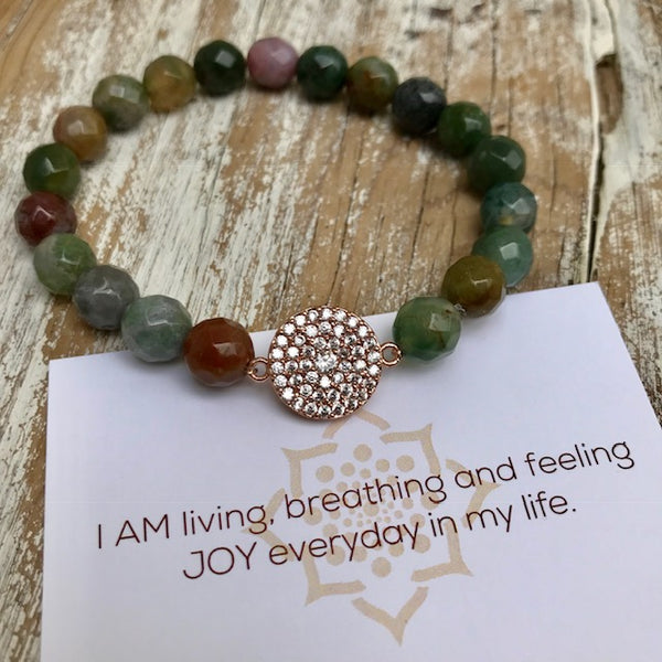 Love. Joy. Happiness – Sparkling Mandala Bracelet