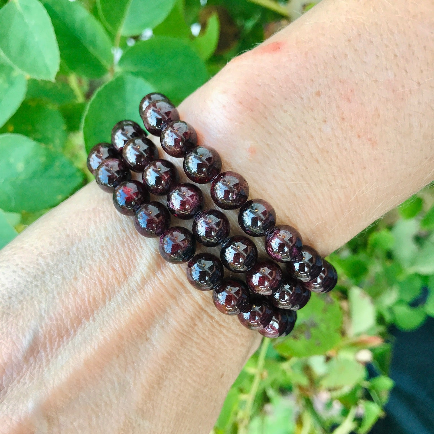 Passion, Love & Devotion Bracelet - Garnet
