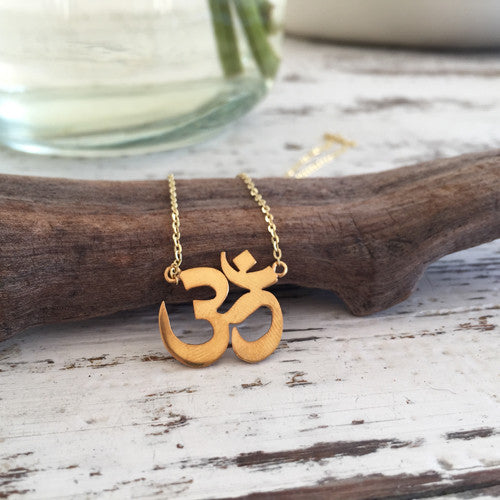 ** ONLY 1 LEFT ** OM Shakti Gold Necklace