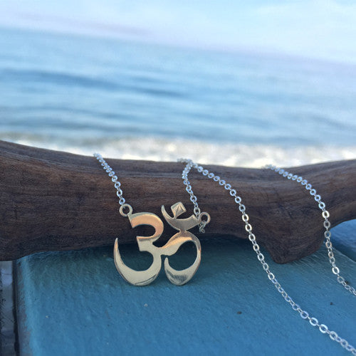 Om Shakti Sterling Silver Necklace