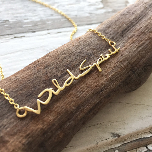 ** ONLY 2 LEFT ** Wild Spirit Gold Necklace