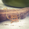 Rising Lotus Gold Necklace
