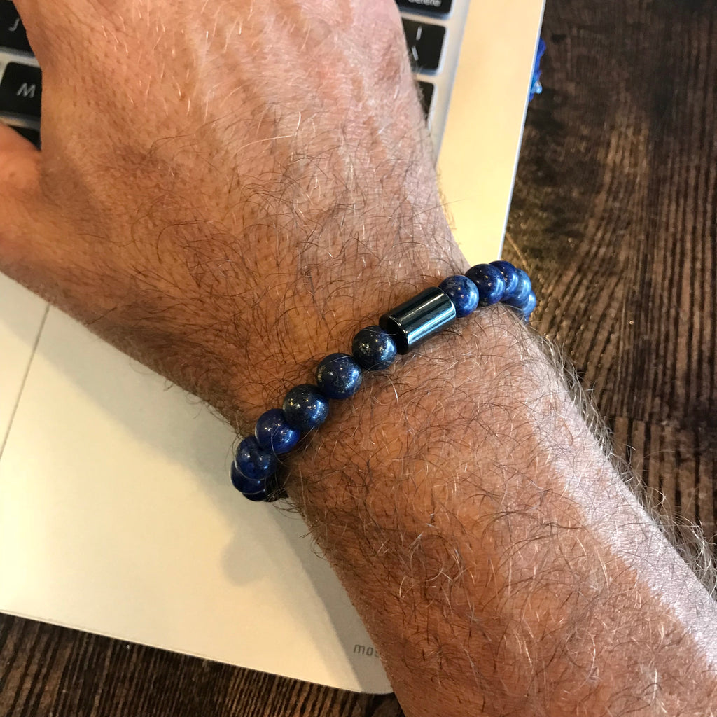 SELF-KNOWLEDGE MEN'S BRACELET - Sodalite