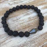 Grounding & Calming Men's Bracelet - Lava Rock - Bracelets