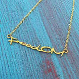 FreedOM Gold Necklace