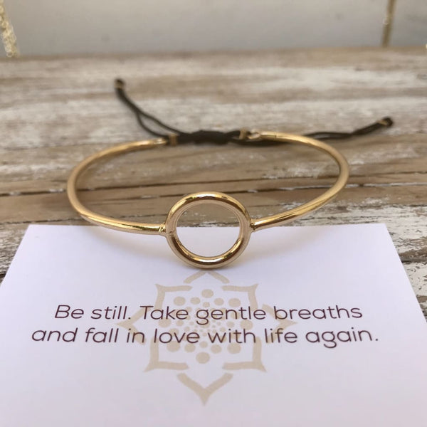 Universe Guidance - Circle Bangle Bracelet