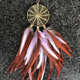 Magical Dreams 02 - Feather Dream Catcher Necklace