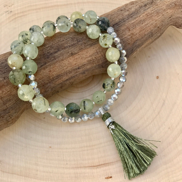 CLARITY AND LETTING GO - PREHNITE WRIST MALA