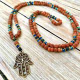 Happiness & Good Fortune Hamsa Necklace