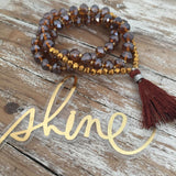 Shining Warmth - Czech Glass Wrist Mala - Bracelets