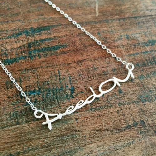 FreedOM Sterling Silver Necklace