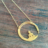 Peaceful Buddha Gold Necklace