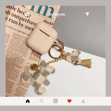 Load image into Gallery viewer, HipCity Airpod Case with Checker Bear Keyring