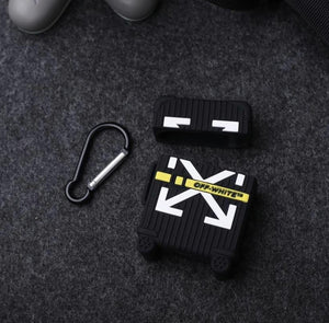 HipCity OffWHT Luggage Airpod Case