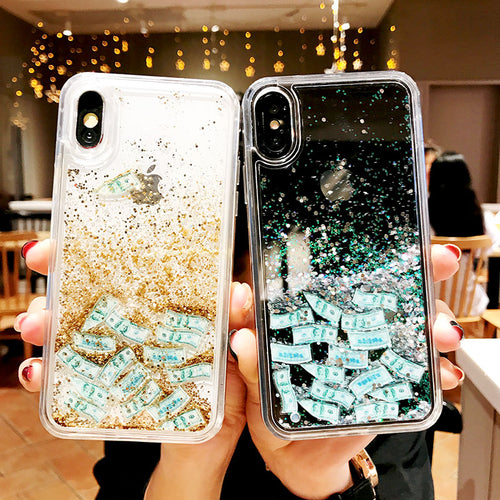 HipCity Raining Money Glitter Case