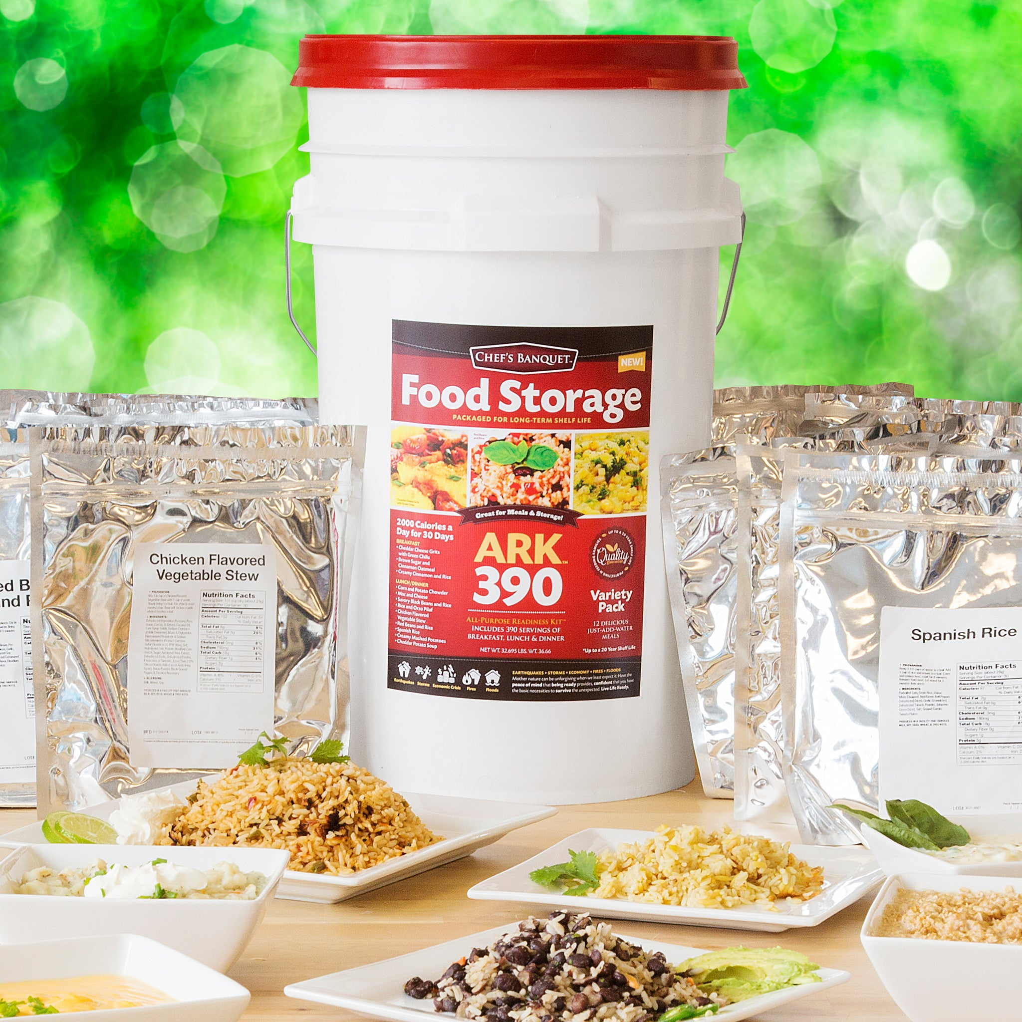 Ark 390 food storage kit by chefs banquet ready project spanish rice ark 390 food storage kit by chefs banquet forumfinder Image collections