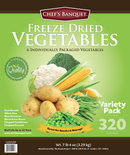 Chef's Banquet Freeze Dried Vegetable Food Storage (320 Servings)