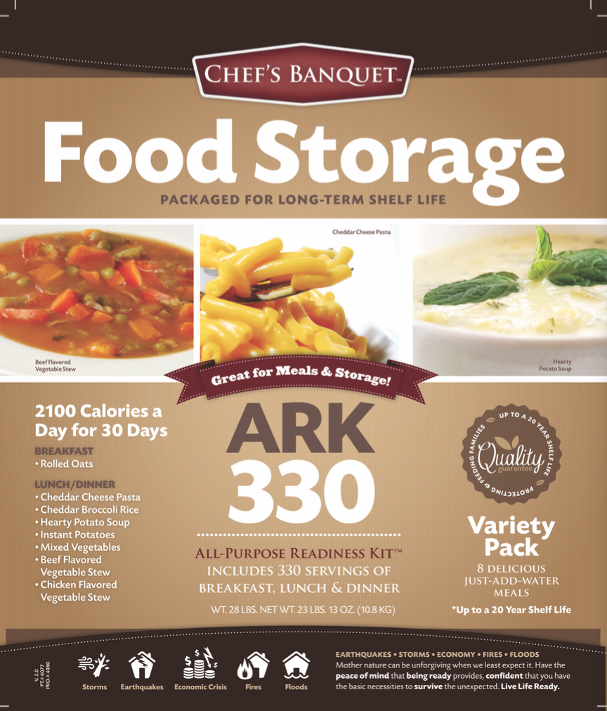 Ark 330 food storage kit by chefs banquet ready project ark 330 food storage kit by chefs banquet forumfinder Image collections