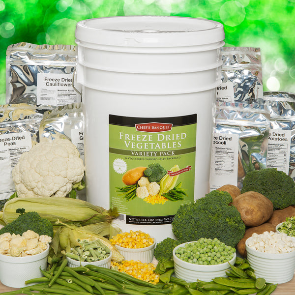 Chef's Banquet Freeze-dried Vegetable Variety Kit