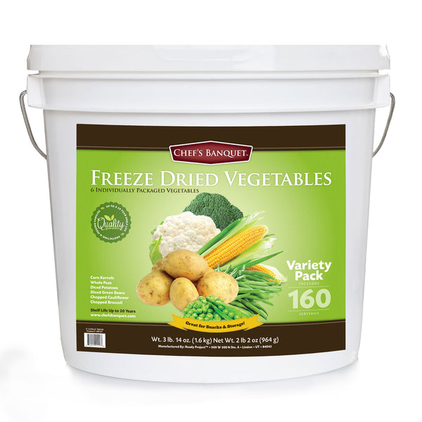 Chef's Banquet Vegetable Variety Food Storage (160 Servings)