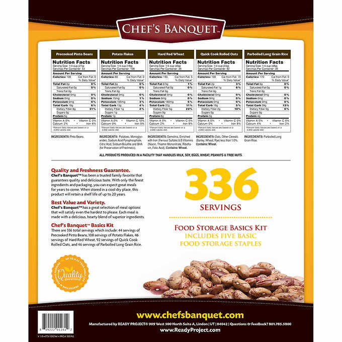 Food Storage Basics - 336 servings