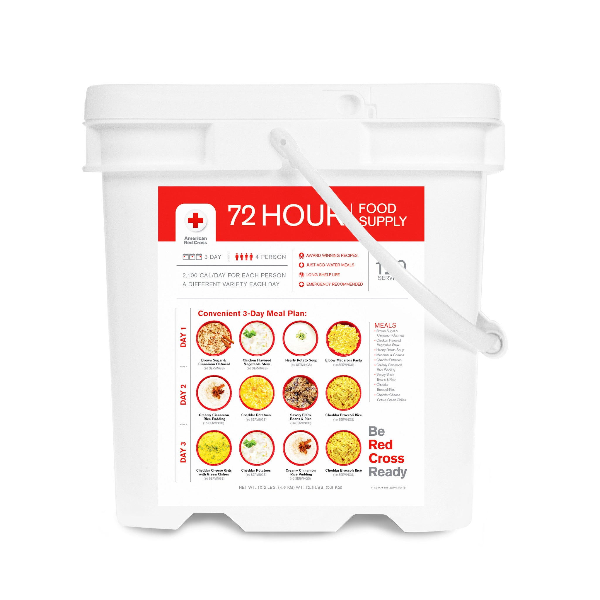 American Red Cross 4 Person 72 Hour Food Supply Bucket