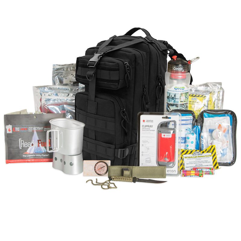 Tactical Backpack 72 hour kit black
