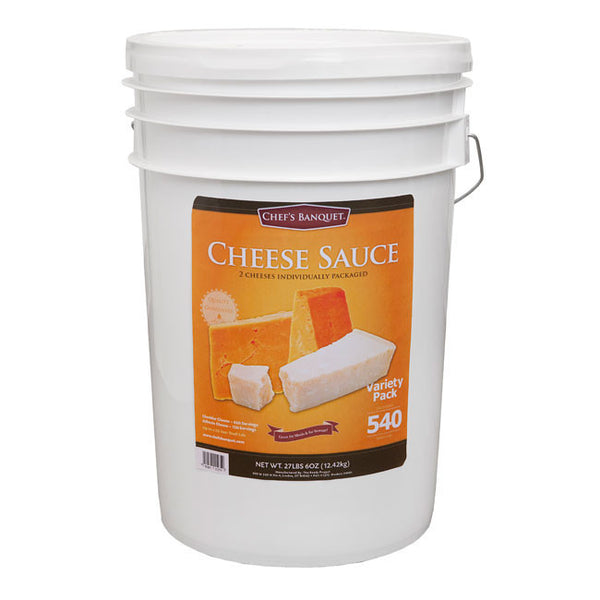 Chef's Banquet Cheddar & Alfredo Mixes Food Storage (540 Servings)