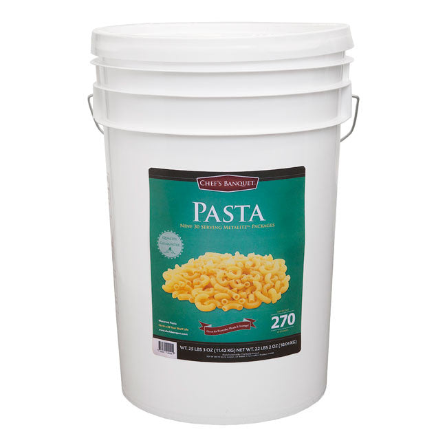 Chef's Banquet Pasta Food Storage (270 Servings)
