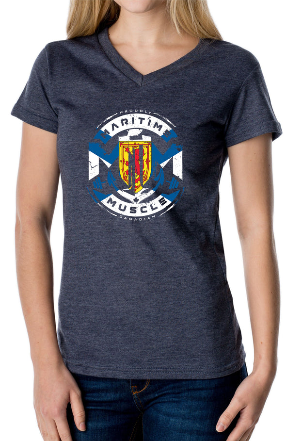 Classic NS Made In Canada Ladies V-Neck Tee