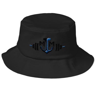 Old School Bucket Hat - Barbell / Anchor