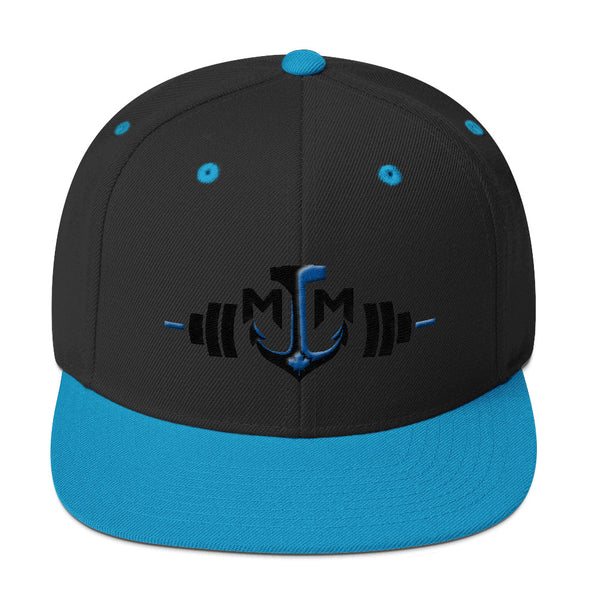 Snapback Hat - Barbell / Anchor