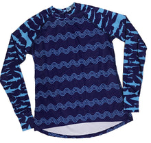 Load image into Gallery viewer, Molidae Rashguard - Sharks and Waves