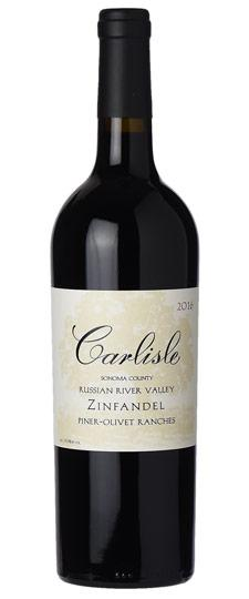 "Carlisle 2018 ""Piner-Olivet Ranches"" Zinfandel, Russian River Valley"