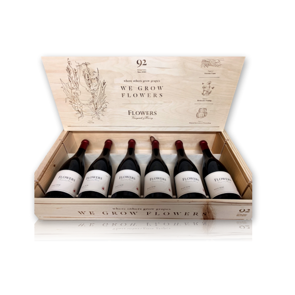 Flowers 2017 Pinot Noir 6-Bottle Wood Box Set