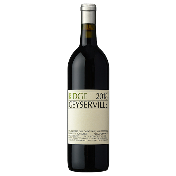 Ridge 2018 Geyserville Red, Sonoma County