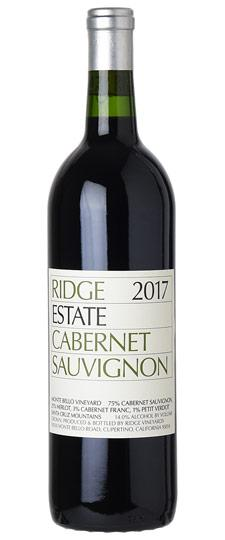 Ridge 2017 Estate Cabernet Sauvignon, Santa Cruz Mts